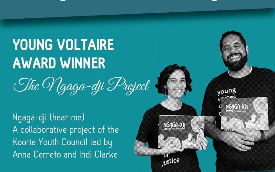Liberty Victoria Award photo featuring Indi Clarke and Anna Cerrato