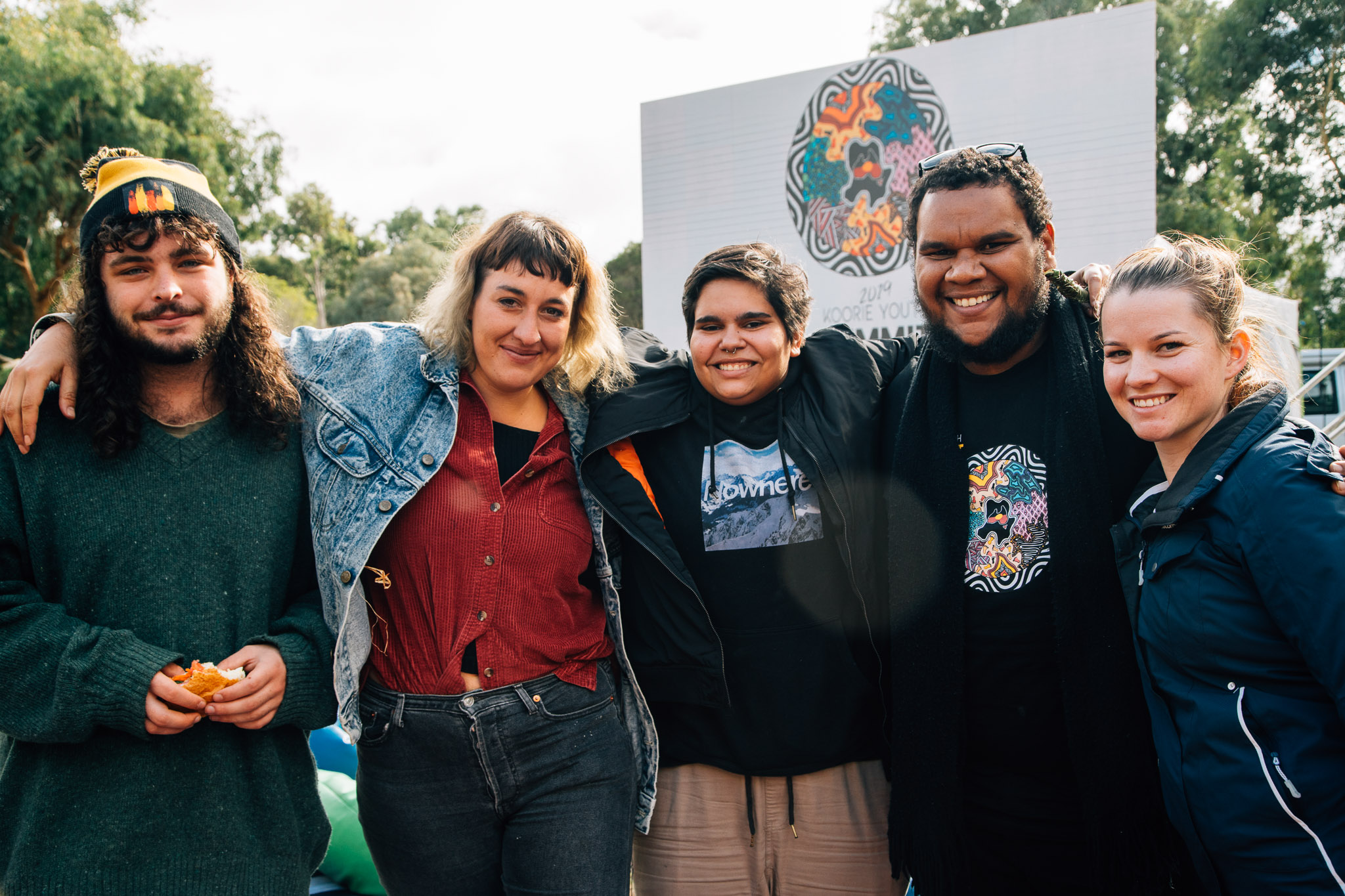 Group of young people smiling